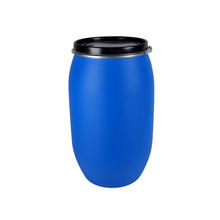 China manufacturer 200 liter blue screw cap food grade plastic two-ring drums/pails/barrels