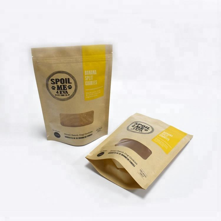 kraft paper stand up bags with window/doy food pouches/ View larger image Custom printing recycled bakery bread bags