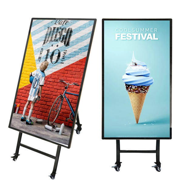 32 inch adroid lcd digital signage advertising player menu board with wheel for cinema