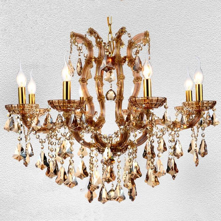 Asfour Crystal Lamp Antique Hanging Lamp Restaurant Cristal Light Modern Lighting Fixture Chandelier Maria Theresa CZ6033/8