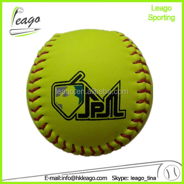 Indoor/outdoor softball spiel, synthetische leder kork softball,