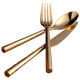 Golden solid Steak silverware knife and fork set Gold flatware set European Western restaurant cutlery for wedding