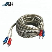 High Quality Braid Shielded Car Audio RCA Cable