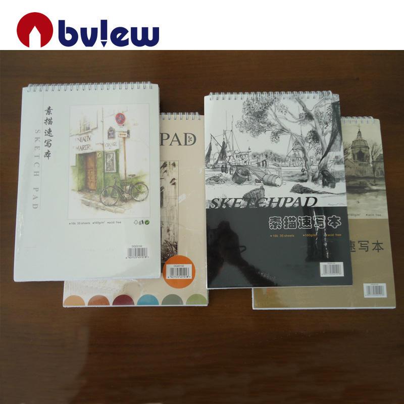 Bosquejo 160gsm Pad Liso Blanco Dibujo Artista Papel Engomado Libro