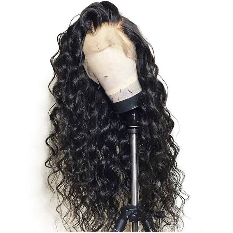 9A Thick Density Brazilian Cuticle Aligned Deep Body Wave Human Hair Lace Front Wig In Stock