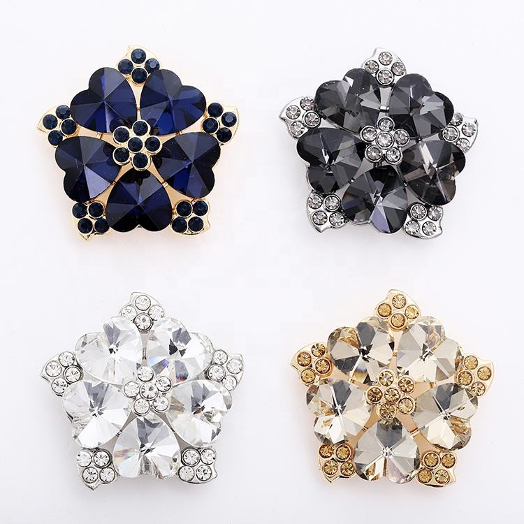 Big Assemble Red Luxury Rhinestone Button Covers Shoe Accessories Crystal Button