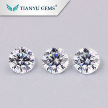 Wholesale Wuzhou Gems Best Fake Colorless Synthetic Diamond Brilliant Cut White Cubic Zirconia