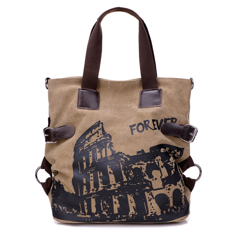 2020 women daily shopping zip top vintage custom wholesale fashion canvas tote bag