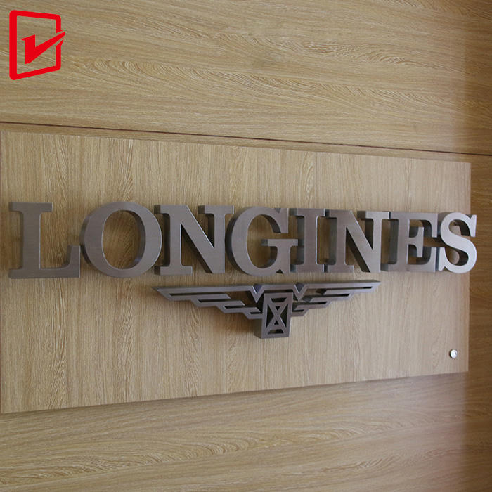 Customized stainless steel metal letter 3d business company name and logo sign