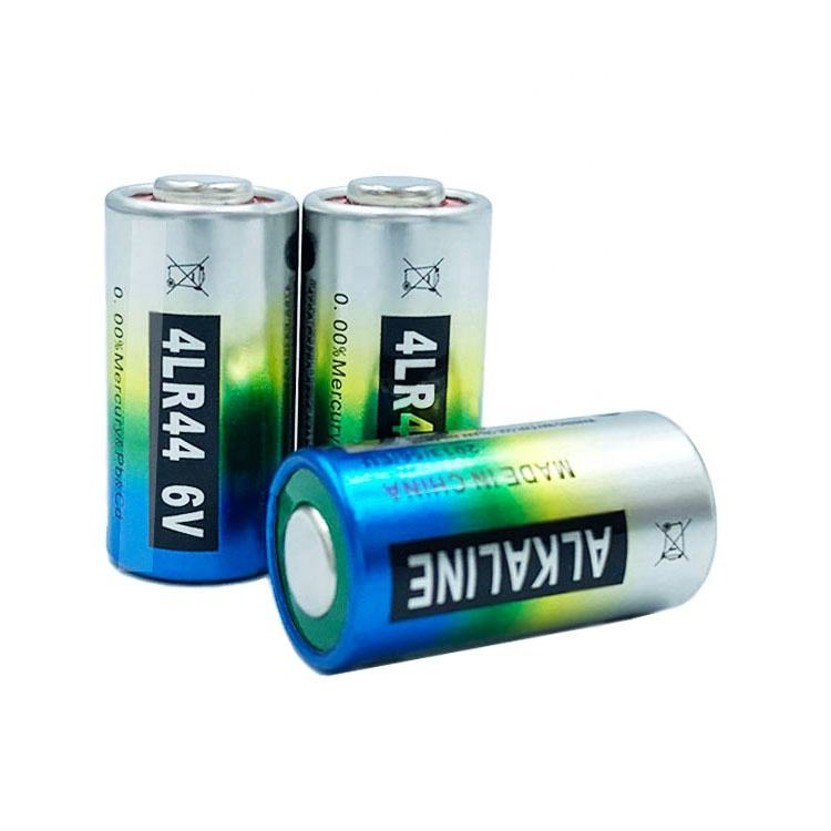 Mercury and cadmium free 6v alkaline 4lr44 a544 l1325f 476a px28a battery