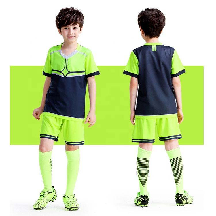 Hot Sales Green Camouflage Color Sport Jersey Soccer Wear Team Shirts for Kids