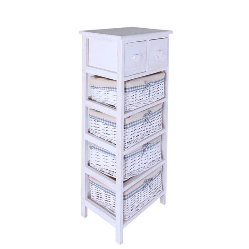 Made in China handmade wicker cabinet with wood frame with good price