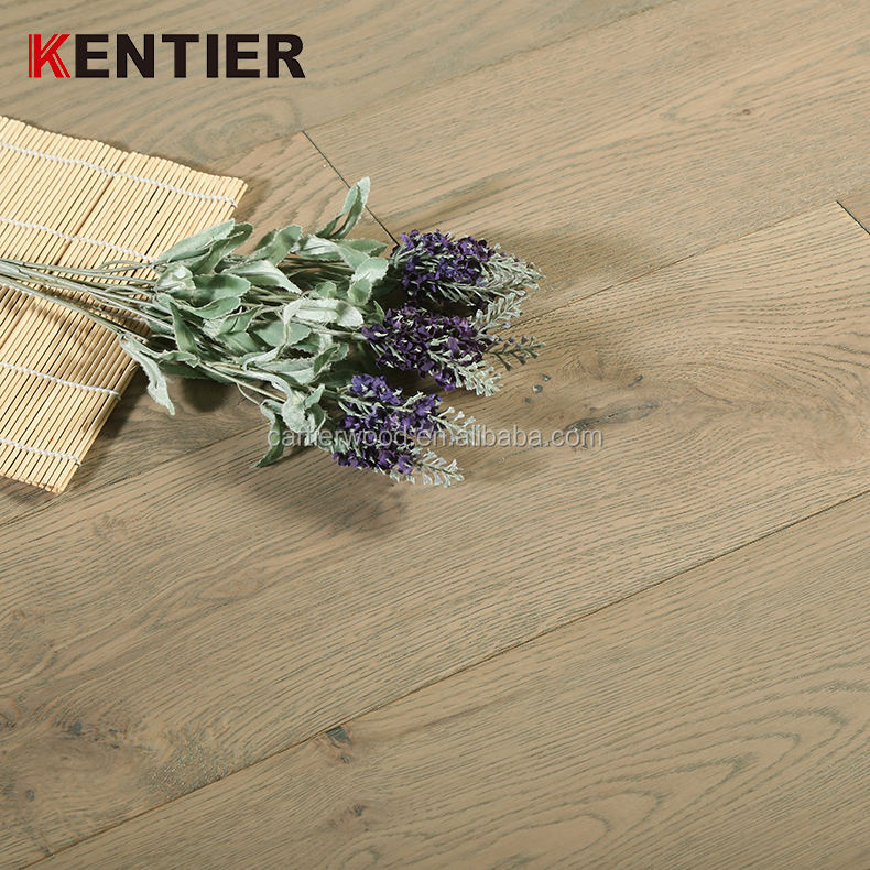 Wide Plank White French Oak Engineered Distressed Wood Flooring