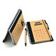 Custom Logo Solar Product Kraft Paper Notebook with Pen Jotter with Calculator