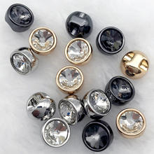 8MM HIGH-QUALTIY SHARP-SHAPE RHINESTONES METAL SHIRT BUTTONS