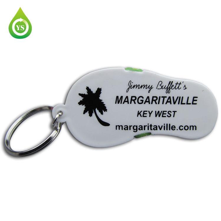 Margaritaville Round Silver Spinner Keychain