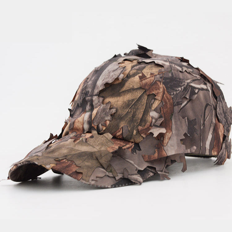 Custom Low Price Leaf Camo Military Cap Tactical Baseball Hunting Hat