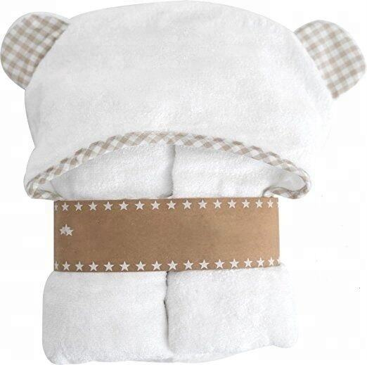 Organic Hooded Baby Towel And Washcloth Set