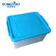 Heavy duty plastic storage box with lid