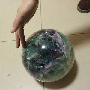 200mm natural rainbow fluorite batu besar sphere bola