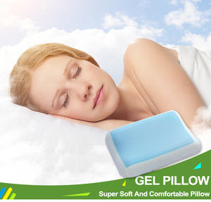60*40*13 cm Customize Brand Label Memory Foam Pillow With Cooling Gel Panel