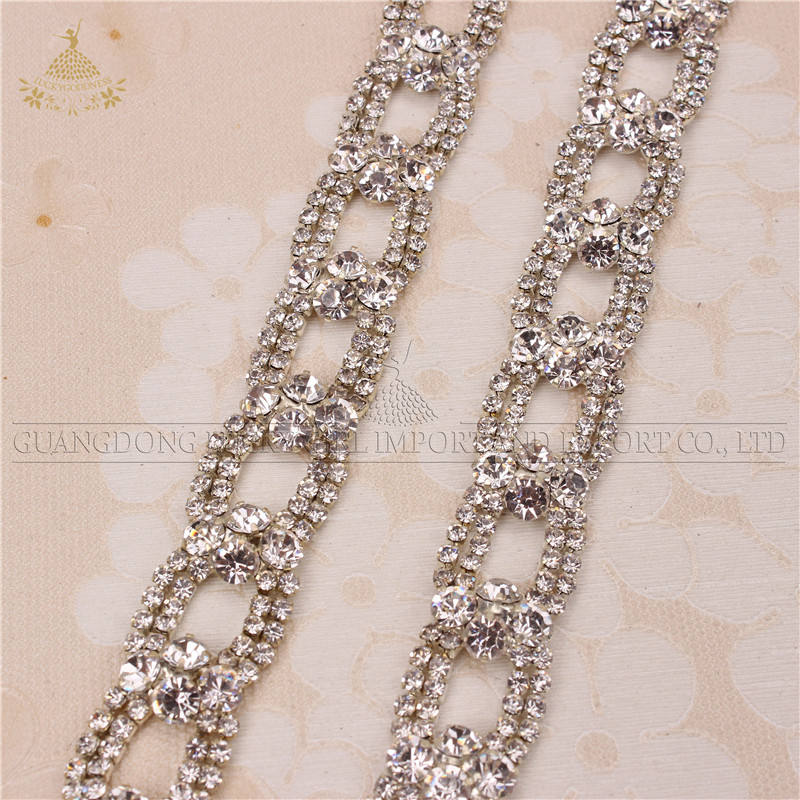 new hot sale clothing rhinestone trimmings chain