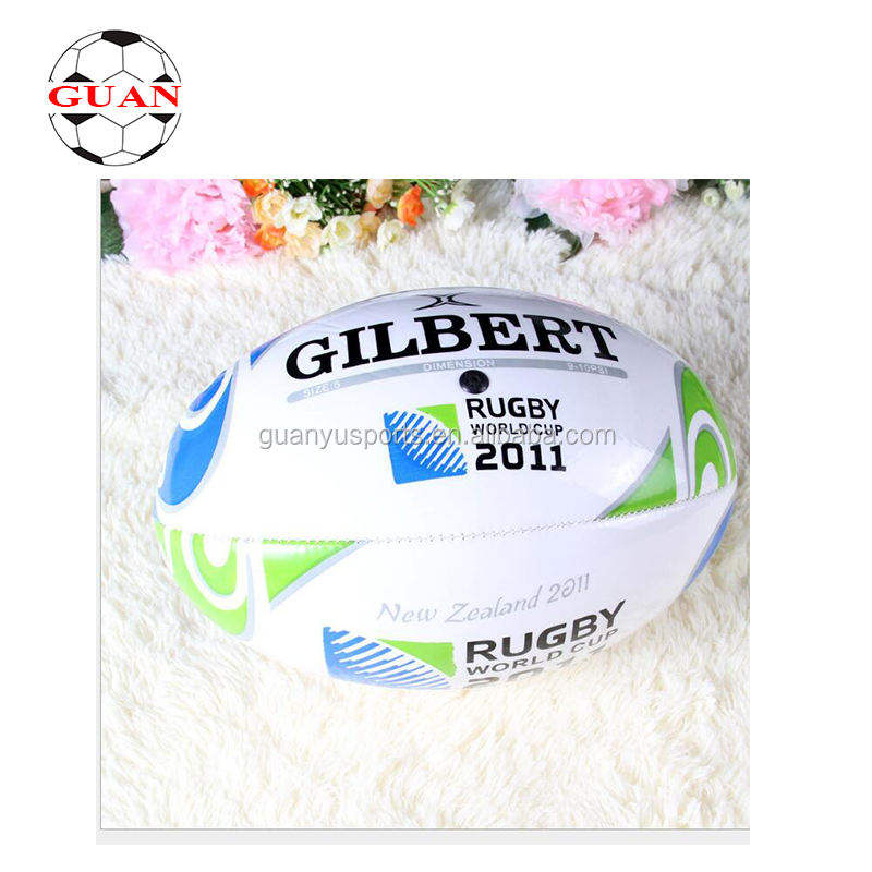 Customized Wholesale cheap inflatable pvc rugby ballOfficial size pu ball rugby
