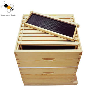 Hot sale bee hives wooden 10 frames langstroth beehive kit