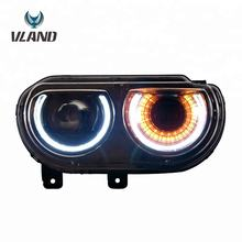 Dynamic Turn Signal LED Headlights Assembly New Design Front Lights Dodge Challenger SRT-8 2008-2014 Head Lamp