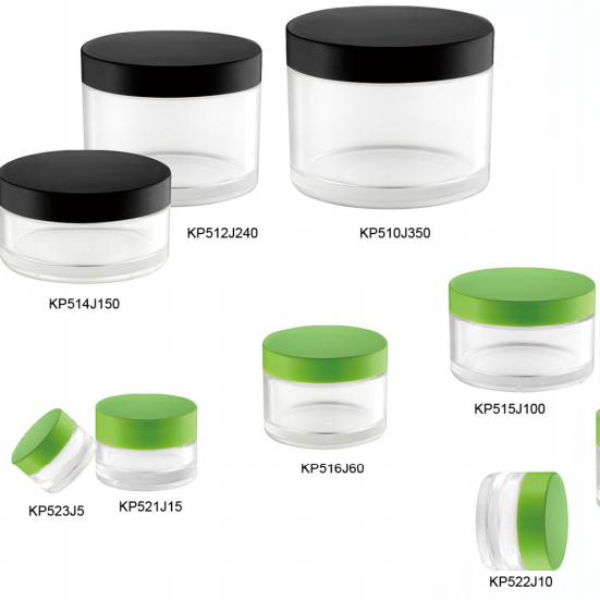 Transparent Plastic Cosmetic Cream Round PETG Jar Plastic Jar 5g