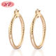 2019 Latest Fashion Design 18K Gold Plated Oversized Hoop Earings For Women jewel