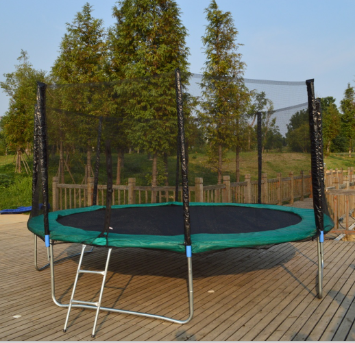 14FT Trampoline With Enclosures And Tent