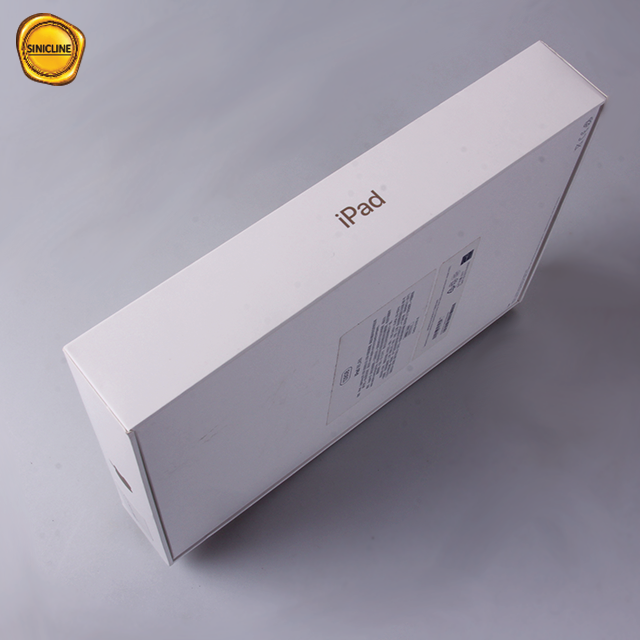 Sinicline custom white cardboard ipad packaging package box
