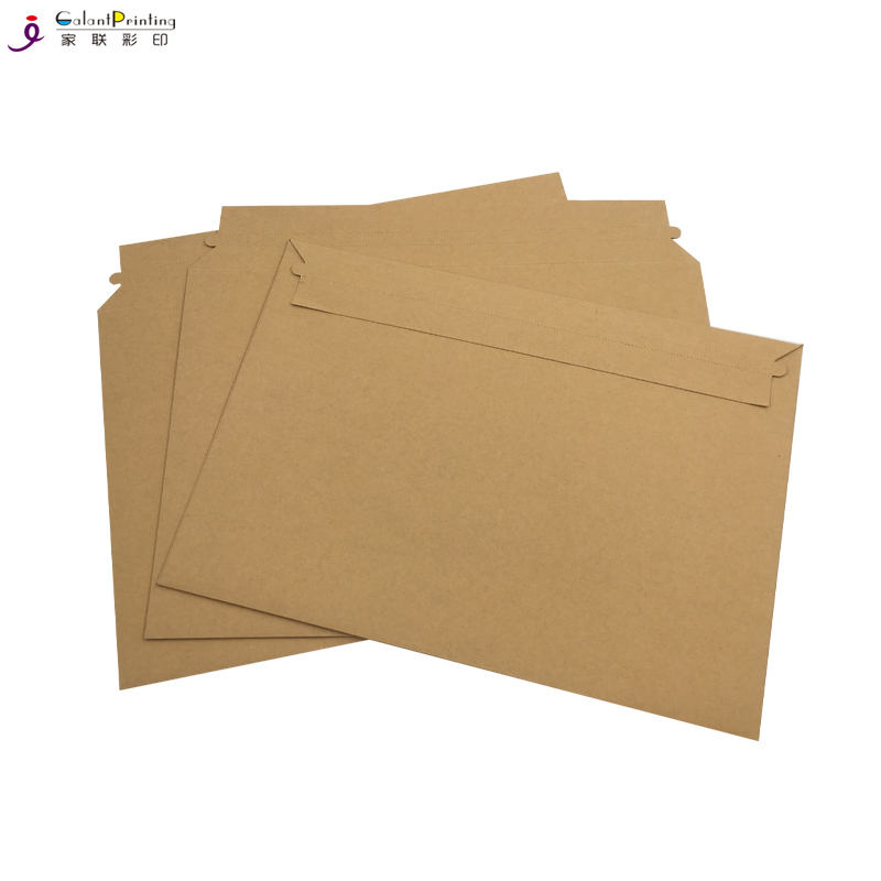 Large Size White Cardboard CD/Photo/Document Mailer with Adhesive Flap