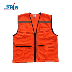 Professional standard high visibility clothing safety jacket reflective zipper hi vis workwear