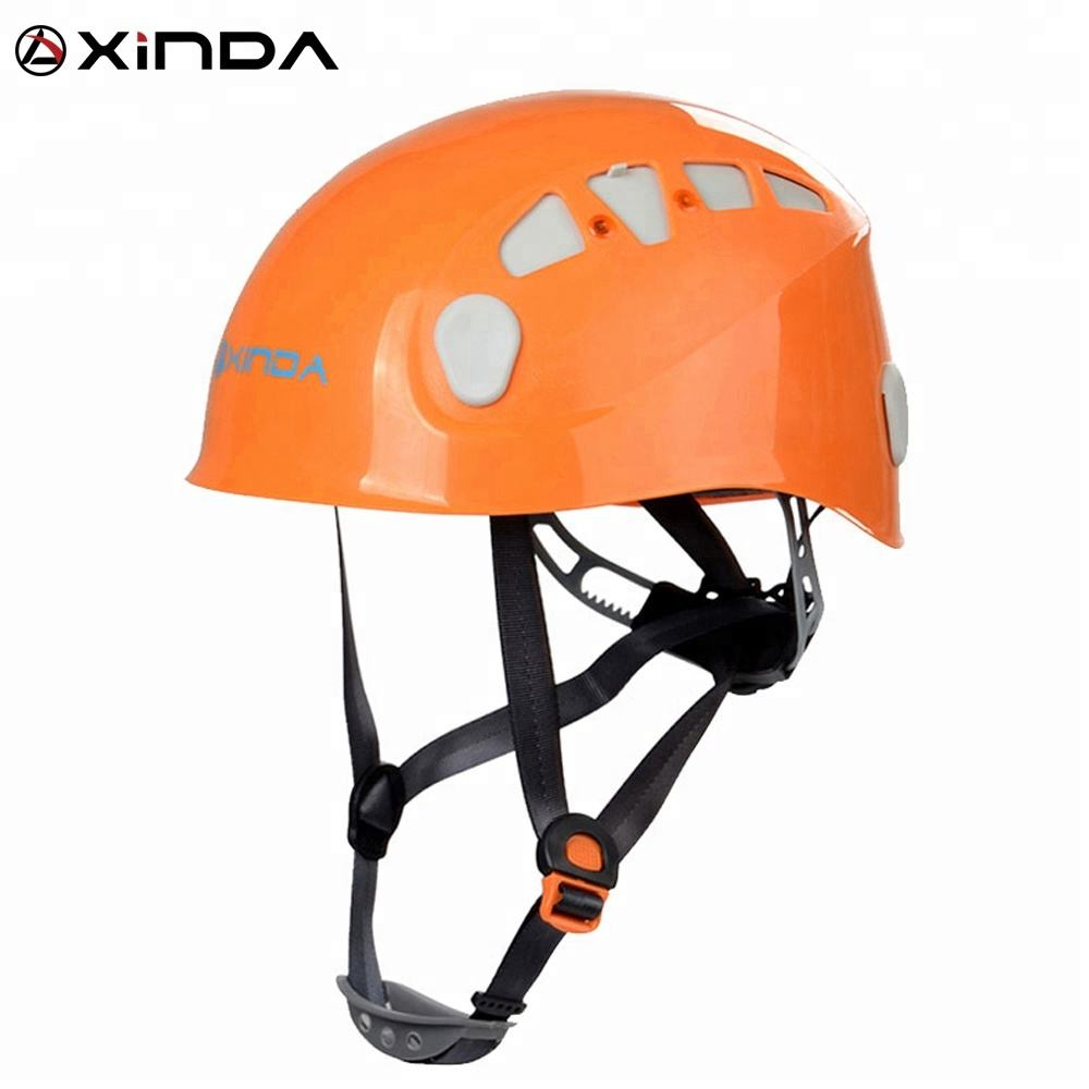 XINDA 2018 hard hat construction safety helmet with adjustable 4-point suspension system climbing gear