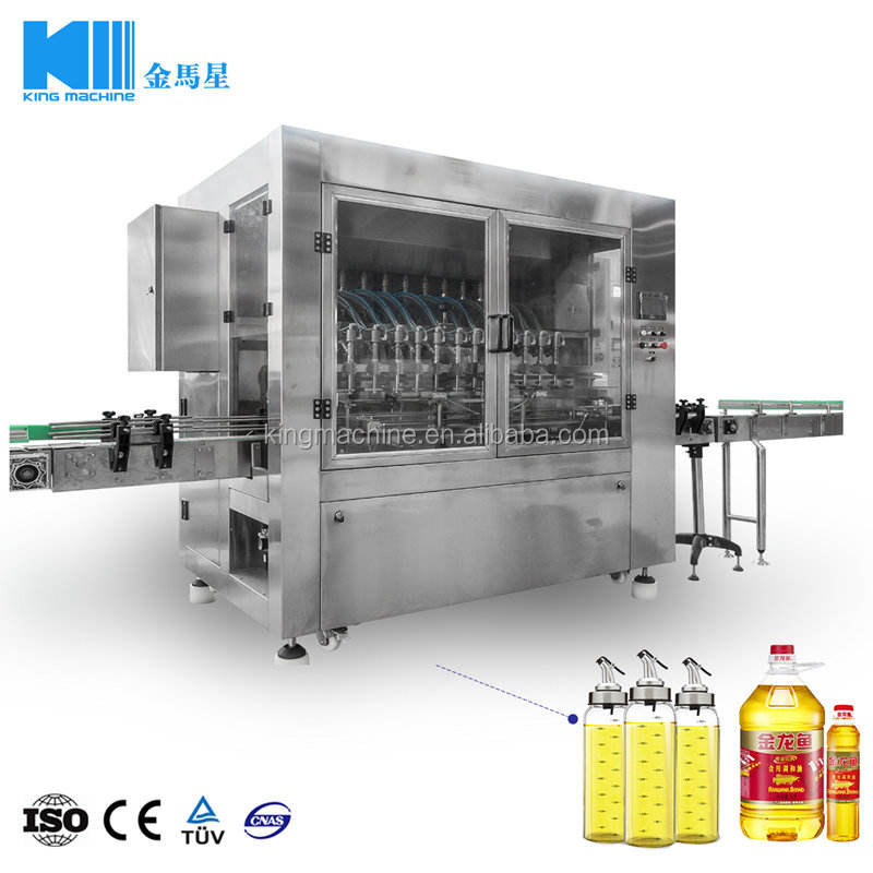 Automatic sunflower oil bottle filling machine / line price cost
