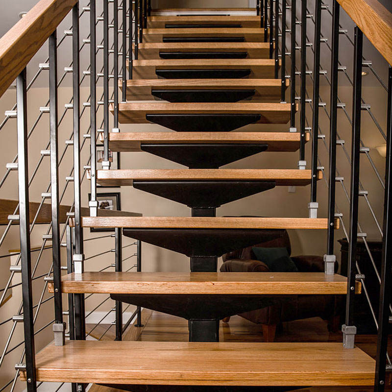 Wood indoor staircase house remodeling house renovation hh11