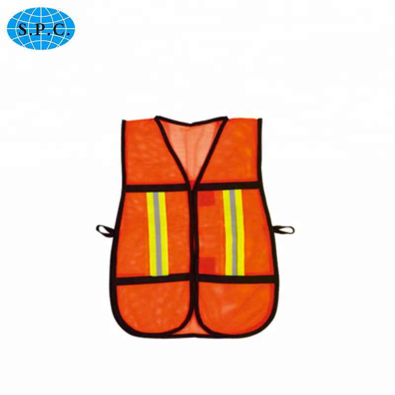 SPC-G058 Orange,Green,Yellow,Blue Sticker seal (Zipper is offered) reflecting safety vest