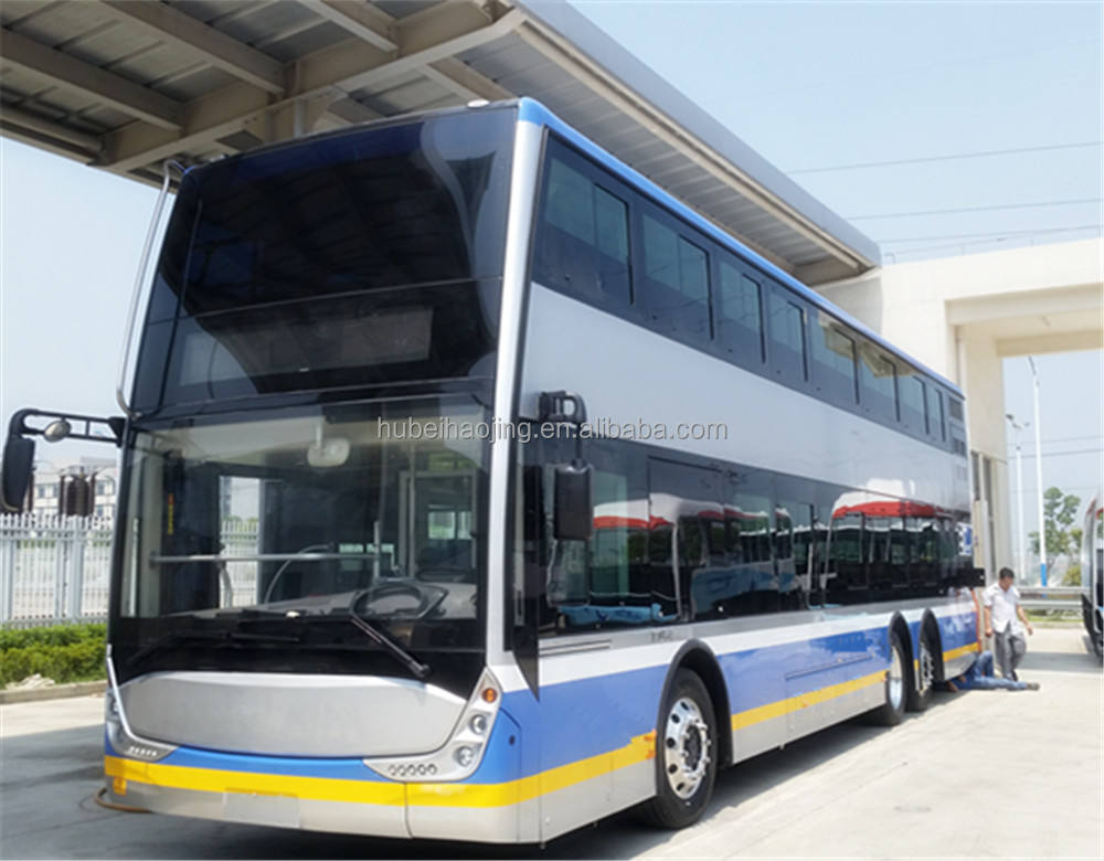 Hot sale 13meters safety and environment electric double decker bus