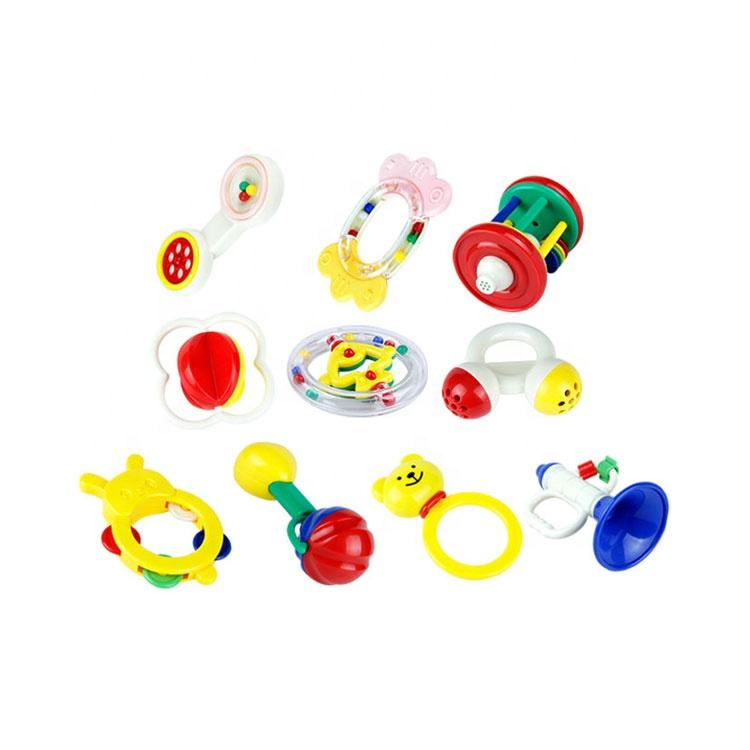 eco-friendly funny baby rattles infant music toys hand bell set