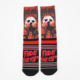 wholesale man custom dracula movie printed sublimation socks sport