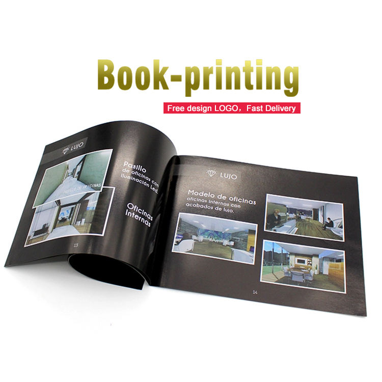 Custom design product paper catalogue luxury brochure printing