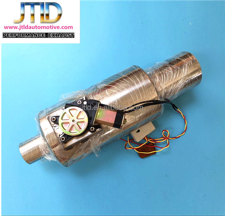 Stainless Steel Exhaust Electric Remote Control I Pipe With Cutout Valve