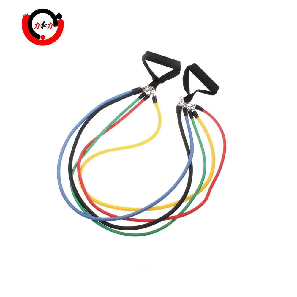 11 stks Resistance Bands Set met 5 <span class=keywords><strong>Oefening</strong></span> Buizen
