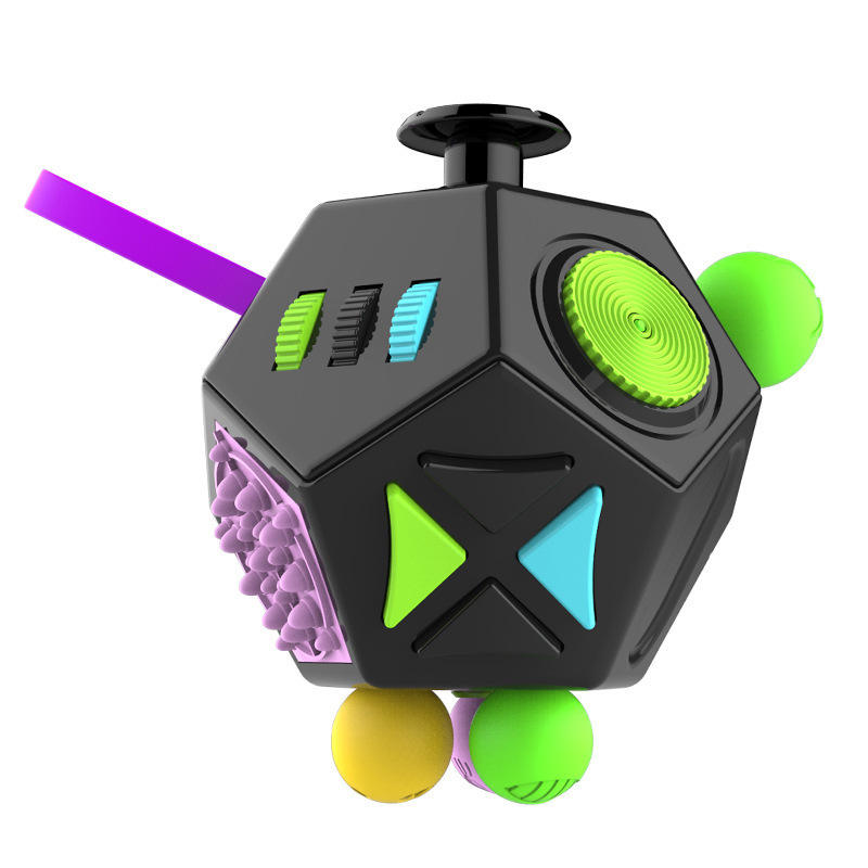 Mini Fidget Cube 12 Sides Magic Fidget Toy Relieves Stress Desk Toy 3D MODEL Innovative Birthday Gifts