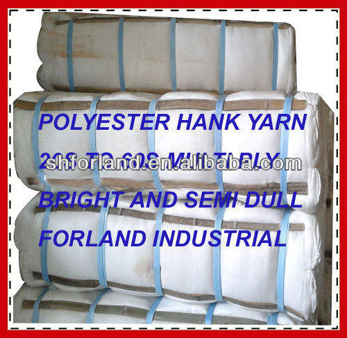 polyester 40/2 sewing thread hanks