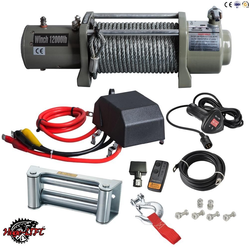 Heavy Duty 4WD Electric Tời 12 V 24 V 12000lbs 5443 kg Winch cho 4x4 Off Road Xe Tải