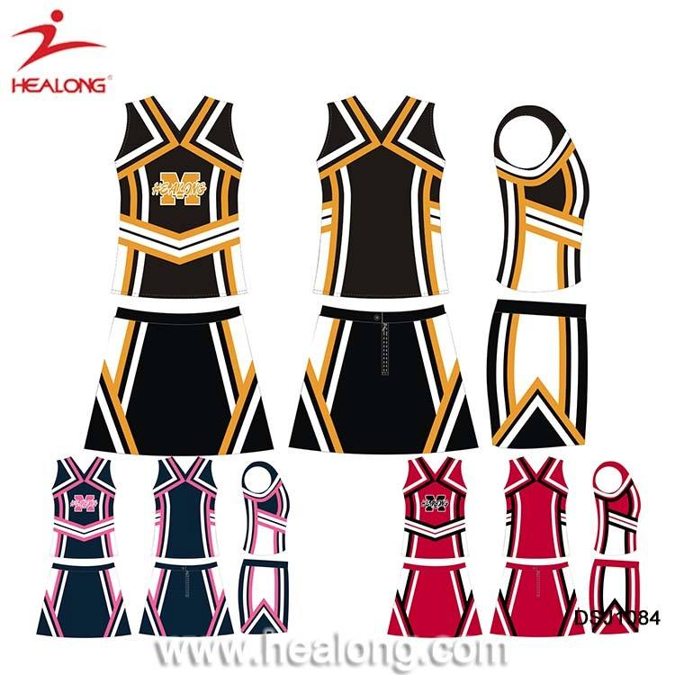 Sublimation Girls Glee Cheerleader Costume Jerseys Uniforms And Skirts