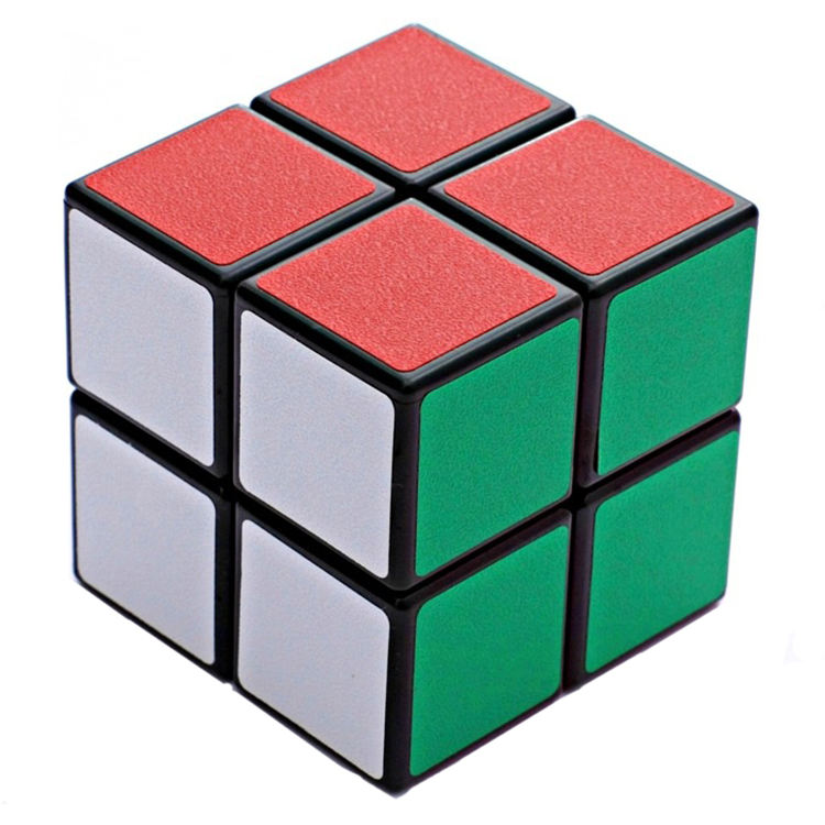 Easy IQ puzzle ShengShou 2x2 cube with matting stickers for kids brain education toys